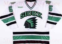 Wholesale Ice Hockey Games - Factory Outlet, University North Dakota Fighting Sioux Hockey Jersey 1997-99 #5 Jason Blake Game Worn Jersey Free Shiping XXS-6XL