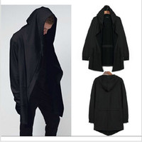 Wholesale Batwing Sleeve Hoodie - Original design men's clothing sweatshirt spring autumn hoodie men hood cardigan mantissas black cloak outerwear oversize free shipping new