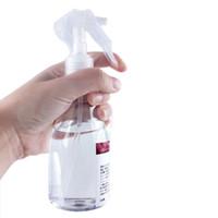 plastikflasche feinnebel spray großhandel-200 ml tragbare kunststoff sprühflasche transparent make-up feuchtigkeit zerstäuber topf feinen nebel sprayer flaschen haar friseurwerkzeuge