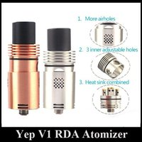 Plus chaud Yep V1 RDA SS Red Copper E Cigarette Atomzier Yep V1 Reconstructible Dripping Atomzier VS BAAL N23 Pollux Doge RDA Meilleure dissipation de chaleur