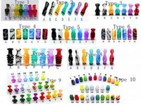Wholesale China Wholesale E Cig Atomizers - 20pcs Wholesale 510 drip tip acrylic plastic Drip tips for 6ml DCT china e cig e cigs e cigarette for RDA RBA atomizer