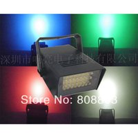 Hot venda Atacado 50pcs / lot Mini 5 cores 24 leds LED Flash lâmpada partido club bar Disco DJ Estroboscópio iluminação luz do estágio rápido navio