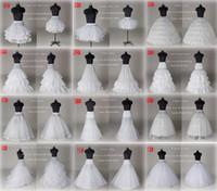 crinoline slip für prom großhandel-10 Stil Günstige Weiß A Line Ballkleid Meerjungfrau Hochzeit Prom Braut Petticoats Unterrock Krinoline Hochzeit Zubehör Braut Slip Kleider