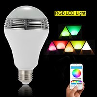 Wholesale change speaker for sale - Group buy SmartBulb w Wireless Bluetooth Speaker LED RGB Light Music Bulb Lamp Color Changing via WiFi App Control