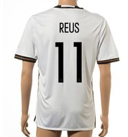 Wholesale German T Shirts - Thai Quality Customized 2015-16 New season men German European Cup 11 REUS Home Jerseys Shirts,18 KROOS 13 MULLER T-shirt Soccer Wear Tops