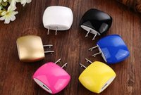 Wholesale Bread Usb - Colorful US EU Plug Steamed bread Travel Home Wall USB Charging Charger Adapter for iPhone 5 6 6Plus Samsung Android