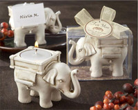 "Wholesale Candle Elephant Favors - 30pcs Wedding Favors ""Lucky Elephant"" Tea Light Candle Holder Party favor gift without candle G180"