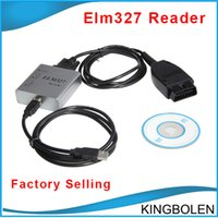 Wholesale Can Bus Code Reader - Metal ELM327 USB CAN-BUS Scanner V2.1 ELM 327 OBD OBD2 car Diagnostic tool Free Shipping