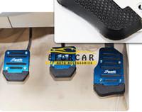 autos rennen gesetzt großhandel-3 teile / satz Universal Racing Sport Rutschfeste Aluminium Automatische Auto Bremspedal Pad Auto Accelerator Pedalabdeckungen