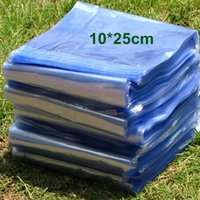 Envoltura Al Por Mayor De La Película Del Pvc Baratos-Comercio al por mayor 1500pcs / Lot 10 * 25cm claro transparente Heat Shrink bolsa de plástico Top Inaugurado PVC cosmética termocontraíble Wrap Film Packaging bolsa