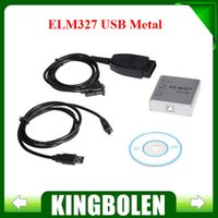 Wholesale Elm 327 Metal - 2015 Free Shipping ELM327 USB Metal V1.5a OBD2 Auto Diagnostic Tool ELM 327 CAN-BUS Interface Erase Trouble Code Scanner