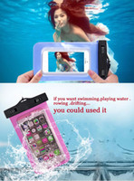 Wholesale Cell Phone Pouch Galaxy 4s - Under 6 inch cell phone seal Waterproof Bag Pouch Underwater Back Cover Case For iPhone 6 5 5s 4 4s for lg g2 Galaxy galaxy