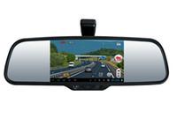 rear vision mirror camera بالجملة-2015 جديد H264 5 بوصة HD للرؤية الليلية سيارة DVR مسجل كاميرا للرؤية الخلفية عرض مرآة