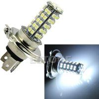 Wholesale H4 68 Led - Free Shipping H4 3528 68-SMD LED 310 Lumen 6500K White Fog Light Bulb Headlight Car DC 12V New
