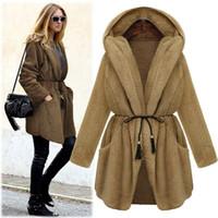 Wholesale New Winter Coats For Women - 2015 New Fashion Winter Warm Women Fur Coat For Sleepwear Long Sleeve Hooded Thick Double Side Fur Coats Female Outerwear