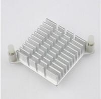 ic yongası açtı toptan satış-Toptan-5 adet / grup LED IC Gümüş Isı emici Çip IŞLEMCI Bilgisayar Kuzey Köprüsü Soğutucular Soğutma Alüminyum Soğutucu Radyatör 40x40x13mm