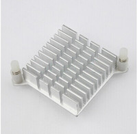 Wholesale heat sink radiator - Wholesale-5 pcs lot LED IC Silver Heat sink For Chip CPU Computer North Bridge Coolers Cooling Aluminum Heatsink Radiator 40x40x13mm
