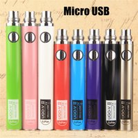 2017 Nouveau 510 eVod 650 mAh 900 mAh Vape Pen Batteries Micro USB UGO V II 2 E Cig Fil Discussion Cigarette électronique Avec Câble USB