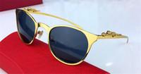 Wholesale Women Optical Frames Metal - Classic selling eyewear metal cat eye frame animal leg leopard design sunglasses optical series uv400 lens with original box 8922017