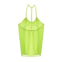 Wholesale Shirt Chiffon Neon - Wholesale-Summer Fashion Neon Women Camis Shirt Women Tops Chiffon Top Women Blusa Feminina Blusas Camisas Femininas 2015