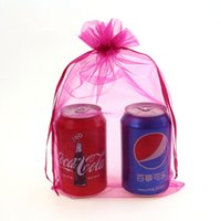 Wholesale wholesale printed organza gift bags - Wholesale- 20x30cm Pink Organza Jewelry Bags Packaging Bags For Jewelry Small Bags For Gifts Customed Logo Printed 100pcs lot Wholesale