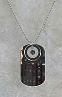 Wholesale Dj Digital Mixer - DIY Digital Mixer DJ Turntable custom Pet Dog Tag pendant necklace Chain Metal Tags