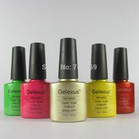 Wholesale Soak Off Gelexus - Wholesale-100% Brand New 7.3ml Gelexus Soak off UV LED Nail Gel Polish Total 79 Beautiful Colors 12pcs lot