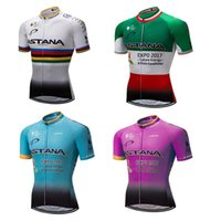 Wholesale Astana Cycling Clothes - 2017 quick dry Men's 4 species ASTANA cycling clothing bicycle jersey exercise wear ropa maillot Breathable outdoor Sportswear Clothes K2601