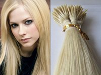"""Wholesale Stick Hair Human - 100g 1g s 18"""" 20"""" 22"""" 24"""" #613 Keratin Stick I Tip Human Hair Extensions Indian Remy Sitck Tip Hair Extension"""