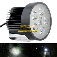Wholesale motorcycle led spotlights - 6 LED 18W Motorcycle Headlight Head light Driving Fog light Working Spotlight lamps Safety Night Light Lamp
