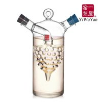 Wholesale Glass Oil Cruets - Kitchen supplies oil and vinegar bottle oiler soy sauce and vinegar cruet glass bottle seasoning bottle ( fh-921p )