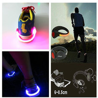 Wholesale Kids Shoe Wings Wholesale - 2015 new arrived Bike Cycling Sports Shoes Wrist Safety Signal plastic LED shoe Clips flash luminous ~Led Light Shoe Clip party decoration