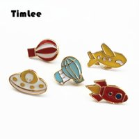 Timlee X019 Симпатичный воздушный шар Rocket Airplane Brooch Pins, Fashion Jewelry Wholesale