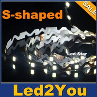 Bend smd2835 librement bandes de LED Strips Rope Light Light 5m 300LEDs 12V S-forme flexible de LED pour canal Letter Box Signes éclairage