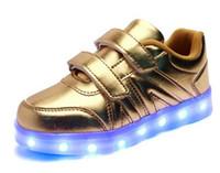 Wholesale Lighting Usb Genuine - 2016 Children Led Lights Shoes Boys Girls Usb Charger Light Schoenen Kids Shoes Chaussure Enfant Luminous Shoes Sneaker Casual