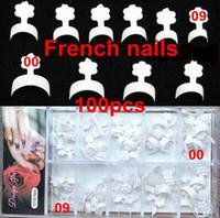 Wholesale Tips Nails Short Wrap - Wholesale-100pcs 10 Sizes New French Nails False Short Nails White Short Wrap French Tips Style Acrylic Nails Packed Box