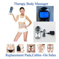 Wholesale Care Tens Electrodes - 2 Electrode Health Care Tens Acupuncture Electric Therapy Massageador Machine Pulse Body Slimmming Sculptor Massager Apparatus High Quality