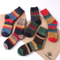 Wholesale Ladies Cashmere Socks - Cheap Price Winter Fashion National Style Women wool Blend socks Thick Ladies socks Korean Socks Wholesale
