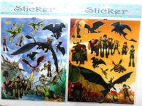 Wholesale Cartoon Train Wall Sticker - New 50 Sheets Cartoon How to Train Your Dragon Mini sticker cartoon sticker wall sticker Party Gift