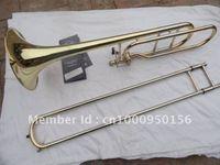 Wholesale gold trombone for sale - Group buy Bach BO Senior Sandhi Tenor Trombone Imports Alloy Copper Surface Gold Bb Trombone Musical Instruments