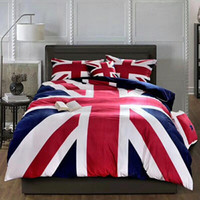 Wholesale national beds for sale - Velvet United States National flag Worm Winter bedding sets kids Blue twin Single Size quilt cover flat sheet and pillowcase