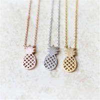 Wholesale Silver Pineapples - Fashion Pendant Necklaces with Pineapple Pendant Super Popular Pendant Necklace for Women New Arrival for Sale5
