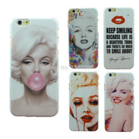 Wholesale Marilyn Monroe Iphone - Stylish Marilyn Monroe Bubble Gum Protective Back Hard Cover Case For Apple i Phone iPhone 6 plus 5.5 inch Free Shipping