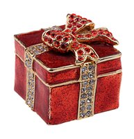 Wholesale Jewelry Boxes Favors - square present box treasured box wedding favors gifts jeweled jewelry trinket box home decoration birthday Mother's day gifts