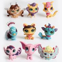 """caixa de bonecas barbies venda por atacado-Little Pet Shop 2.4 """"LPS Brinquedos Animal Gato Dos Desenhos Animados Figuras de Ação Coleção de Brinquedos para crianças, estilos misturados navio aleatório"""