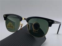 Wholesale diamond sunglasses - Fashion Designer Sunglasses Half Frame Square Frame Classic Retro Style Outdoor Glasses UV400 Diamond Lens Top Quality