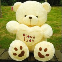 Wholesale Cheap Love Dolls - 50CM cute big teddy bear i love you plush toy animal gift kid doll valentine's gift for girls cheap price free shipping