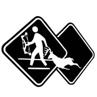 Hunt Hunter Crossing Sign cervo ucciso Shooter Vinyl Stickers Decals Car