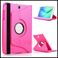 Wholesale Cases For S2 - 360 Rotary leather Case for Samsung Galaxy Tab 3 4 S S2 A E 7.0 8.0 Lite T110 P3200 T230 Cover