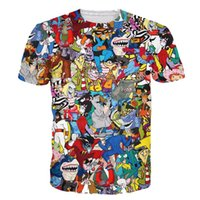 3d gracioso al por mayor-w1208 Alisister mujeres / hombres de dibujos animados imprimir Crewneck camiseta divertida camiseta 3d moda niño niña lindo gráfico camisetas